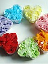 6 романтический форме сердца розы мыло цветы (случайный цвет)