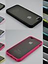 Projeto transparente caso difícil durável para iphone 4 / 4s (cores sortidas)