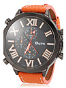Men's Watch Military Style Big Roman Numerals Dial Leather Band Cool Watch Unique Watch