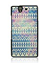 Luminous Wove Leather Vein Pattern Hard Case for Sony Xperia Z/L36h