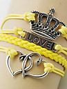 Shixin® Fashion Multicolor Heart Crown Shape Wrap Bracelet(1 Pc)