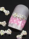 10pcs   Colorfull Rhinestone Bow Tie Alloy Fingernail Accessories Nail Art Decoration