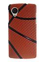 Basketball Pattern Slim Hard Plastic Case for Google Nexus 5