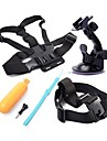 5 in 1 Bundle Set Kit Suction Cup + Head Strap + Chest Strap + Yellow Hand Floating Grip  + Screws For Gopro Hero