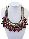 Women\'s Ethnic Bling-bling Mini Beads Sweatershirt Bib Statement Necklace