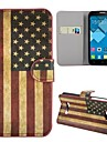 New Arrived Retro USA Flag Pattern Magnetic Foldable Stand Leather Case for Alcatel One Touch Pop C7