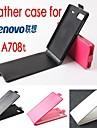Pour Coque Lenovo Clapet Coque Coque Integrale Coque Couleur Pleine Dur Cuir PU Lenovo