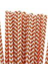 экологичные прекрасный шеврон бумаги соломинки соломинки 18 цветов бумаги питьевой для Хэллоуин рождественской вечеринки (25 шт)