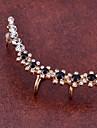 Ухо Манжеты Хрусталь Имитация Алмазный Сплав Мода В форме цветка Бижутерия Для вечеринок Повседневные