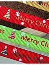 3/8 polegadas natal neve padrão de impressão fita costela natal e bela fita-5 jardas cada saco