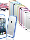 ordinateur personnel& TPU mince pour cadre de pare-chocs pour iPhone 5 / 5s (couleurs assorties)