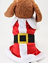 Dog Costume / Coat Red Dog Clothes Winter Color Block Cute / Cosplay / Christmas