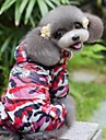 Cat / Dog Rain Coat Red Dog Clothes Spring/Fall Camouflage Wedding / Cosplay / Waterproof