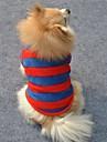 Cat / Dog Shirt / T-Shirt Red Dog Clothes Winter Stripe Wedding / Cosplay