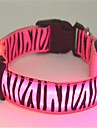Cat / Dog Collar LED Lights / Zebra Red / White / Green / Blue / Pink / Yellow Nylon