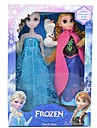 """блеск принцесса Эльза и Анна вокал Олаф снеговик куклы (2шт 14 """")"""