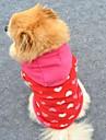 Cat / Dog Hoodie Rose Winter Hearts Wedding / Cosplay