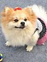 Кошка Собака Платья Одежда для собак Косплей Свадьба Горох Белый Черный