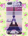 Cartonn Eiffel Tower Pattern Embossment Back Case for iPhone 5/5S
