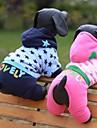 Коты / Собаки Толстовки / Комбинезоны Синий / Розовый Одежда для собак Зима / Весна/осень Звезды / Сердца Милые / На каждый день