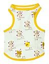 Коты / Собаки Футболка Желтый Одежда для собак Лето Мультфильмы / Животный принт