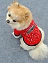 Gatos / Caes Camiseta Vermelho Roupas para Caes Verao Coracoes