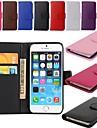 Держатель карточки бумажника PU кожаный чехол для Iphone 6с 6 плюс