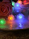 20-LED 4M Waterproof Christmas Decoration Snow Pompon RGB Light LED String Light (220V)