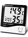 измеритель влажности, цифровой температура бытовые с календарное время будильника функция Boyang HTC-1