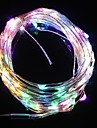 Lampe de lumière de bande flash noël cinq lumière de couleur 10m 9.6W 100-LED (12V DC)