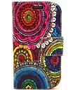 For Samsung Galaxy etui Kortholder Med stativ Flip Mønster Etui Heldækkende Etui Blomst Kunstlæder for Samsung S3 Mini