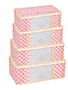 розовый точка visiable ящик для хранения складных одежда (маленький 45x25x15 см)