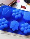 цветок сливы форма тюльпан торт плесень льда желе формы шоколада, силиконовая 26,5 × 17,4 × 3 см (10,4 × 6,9 × 1,2 дюйма)