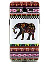 White Elephant Tribal Lines Pattern Design Durable TPU Cover Case for Samsung Galaxy Grand Prime