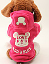Dog Coat / Hoodie Black / Rose Winter / Spring/Fall Letter & Number / Cartoon Keep Warm, Dog Clothes / Dog Clothing-DroolingDog