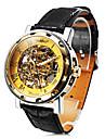 reloj grabado hueco mecanico de los hombres de moda personalizada