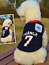 katten / honden T-shirt Blauw Zomer Sport Bruiloft / Cosplay