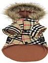 Cat / Dog Coat / Hoodie Red / Yellow Winter Plaid/Check Fashion / Plaid