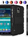 Two-in-One Tire Grain Design PC and Silicone Case with Stand for Samsung Galaxy S5 I9600