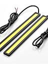 2PCS 17cm 6w 600-700lm 낮 실행 밝은 노란색 높은 전력 냉이 DRL 방수 IP68 일광 (12V)