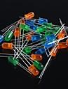5мм светодиоды (зеленый + синий + оранжевый) 60pcs