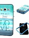 용 삼성 갤럭시 케이스 충격방지 / 패턴 케이스 뒷면 커버 케이스 단어 / 문구 TPU Samsung Core 2