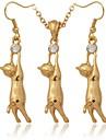 Jewelry Set Imitation Diamond Rhinestone Platinum Plated Gold Plated Simulated Diamond Silver Golden Jewelry setWedding Party Birthday