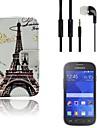 Для Бумажник для карт / Кошелек / со стендом / Флип / С узором Кейс для Чехол Кейс для Эйфелева башня Твердый Искусственная кожа Samsung