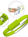 Portable Wrist Bracelet Charging Micro USB Data Cable for Samsung S3/S4/ HTC Sony and Other(Assorted Color)