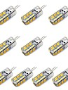 3W G4 LED Corn Lights T 24 SMD 2835 260 lm Warm White / Cool White Decorative DC 12 V 10 pcs