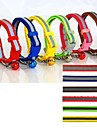 Gatos / Perros Collar Reflexivo / Ajustable/Retractable / Seguridad Rojo / Verde / Azul / Marron / Rosado / Amarillo Nilon