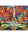 """Case for Macbook Pro 13.3""""/15.4"""" with Retina display Oil Painting Plastic Material The Eiffel Tower Design Full Body Case"""