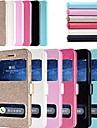 Назначение Кейс для iPhone 6 Кейс для iPhone 6 Plus Чехлы панели со стендом с окошком Флип Чехол Кейс для Сплошной цвет Твердый