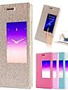 용 화웨이 케이스 스탠드 / 윈도우 / 플립 케이스 풀 바디 케이스 단색 하드 인조 가죽 Huawei Huawei P7